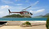 Seychelles, helicopter